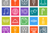 50 Birthday Line Multicolor B/G Icons example image 2