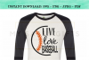 Live Love Baseball SVG Graphic Design example image 1