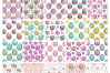 Easter doodles set.  Vector clip arts and seamless patterns. example image 3