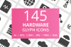 166 Hardware Glyph Icons example image 1