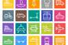 50 Vehicles Line Multicolor B/G Icons example image 2