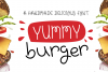Yummy Burger- A handmade delicious font example image 1
