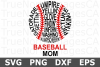 Baseball Mom Words - A Sports SVG Cut File example image 2