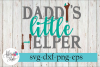 Daddy's Little Helper Tools Baby SVG Cutting Files example image 1