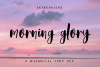 Morning Glory Font Duo example image 1