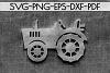 Farm Tractor Papercut Template, Rustic Farm Decor, PDF, SVG example image 2
