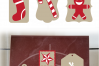 SVG Christmas Tags Red White, Cut File, Clip Art FWS465 example image 2