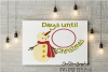 Days until Christmas with primitive snowman example image 1