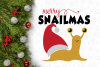Snail Merry SnailMas Svg Design example image 3