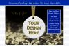 Christmas Ornament Mockup, Gold Sparkles, Smart Object & JPG example image 1