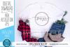 Mockup Bella Canvas 3001, white Christmas Shirt, winter mock example image 1