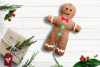 Gingerbread Boy Plush in the Hoop ITH Embroidery Design example image 1