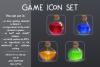 Magic bottles. Game icon set. example image 1