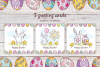 Easter doodles set.  Vector clip arts and seamless patterns. example image 4