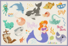 Underwater World 65 Vector Clipart & Seamless Patterns example image 5