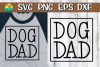 Dog Dad- SVG - DXF - EPS - PNG example image 1