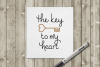 Key to my Heart SKETCH Single Line Pen & Foil Quill SVG example image 1
