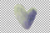 Watercolor little hearts clip art, colorful Valentine example image 8