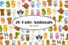 Cute Animals Vector Clipart example image 1