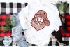 Santa Zentangle SVG | Christmas Santa Mandala SVG File example image 3
