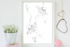 Doodle Flowers Art, A1, SVG example image 3