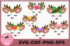 Little Deer face, Little Deer svg, Deer with eyelashes, Baby example image 1