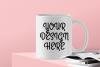 Cool White Mug Mock Up - PNG example image 1