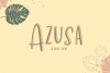 Azusa Sans Font Trio example image 1
