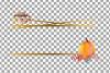 Watercolor elegant autumn geometric golden frame templates. example image 16