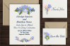 Blue Peach Daisy Flowers Sublimation Transfer Clipart Bundle example image 7