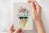 Cute Icecream Kawaii Illustration Printable JPG High-quality example image 2
