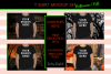 Halloween and Fall Boys t-shirt Mockup Bundle, Colored T's example image 3