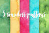 Watercolor Design Set - Backgrounds, Brushes & Patterns example image 3