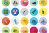 50 Military Flat Long Shadow Icons example image 2