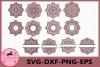 Mandala svg, Mandala Monogram, Mandala Circle Monogram svg example image 1