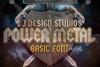 LJ Power metal Font example image 1
