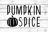 Pumpkin Spice SVG, DXF, PNG, EPS example image 1