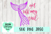 Get Off My Tail Mermaid Tail SVG, PNG, JPEG example image 1