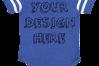 Infant Football Bodysuit Mockups - 12 |PNG|Front/Back - V2 example image 9