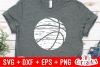 Distressed Basketball | Basketball Cut File example image 2