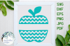 Chevron Apple SVG Cut File example image 1