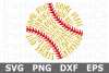 Softball Words - A Sports SVG Cut File example image 2