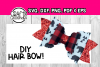 DIY hair bow template - Hair bow svg files - Scalloped bow example image 1