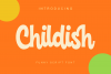 Childish -funny script font example image 1