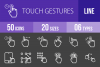 50 Touch Gestures Line Inverted Icons example image 1