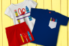 School Supply Trio SVG File Set example image 1