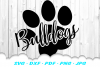 Bulldogs Paw Cheer SVG DXF Cut Files example image 2