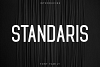 Standaris Font Family Sans Serif example image 1