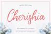 Cherishia Romantic Script example image 1