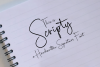 Scripty Handwritten Signature Font example image 9